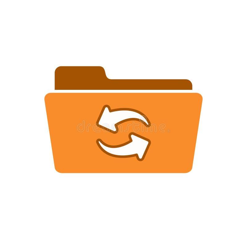 Ordner erneuern Umladen erneuern Synchronisierung synchronisieren Aktualisierungsikone stock abbildung