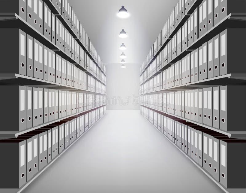 Ordner im Archiv Auch im corel abgehobenen Betrag vektor abbildung