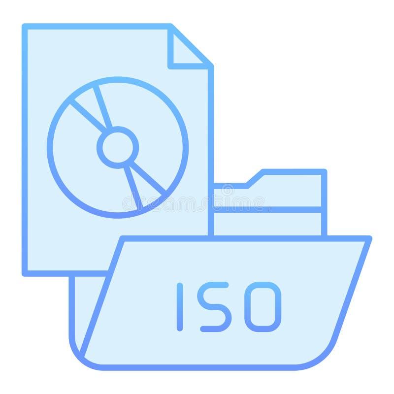 Ordner mit flacher Ikone der Scheibe r Computerordnersteigungs-Artentwurf, entworfen stock abbildung