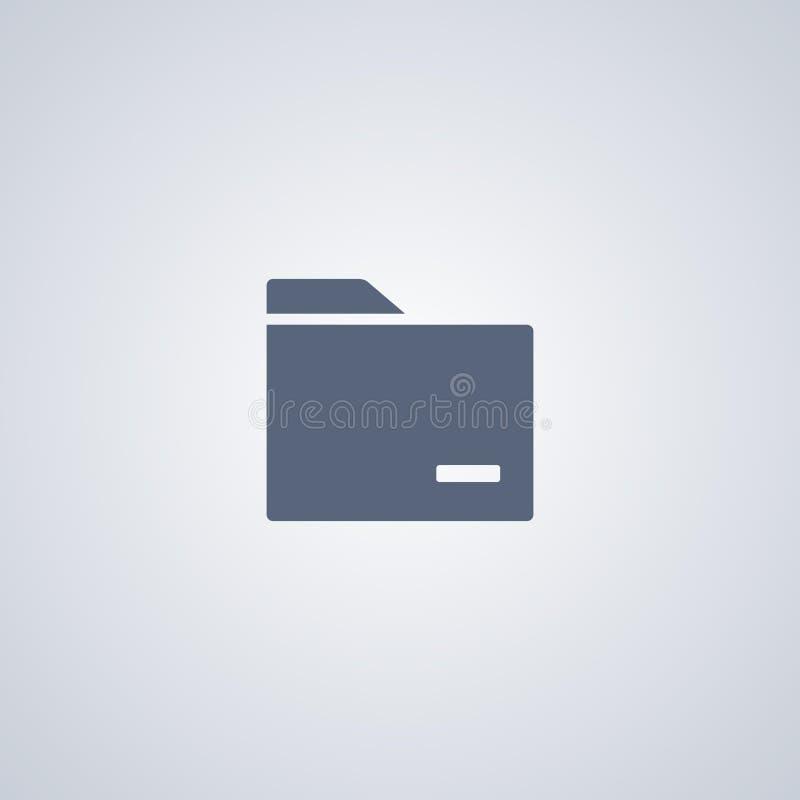 Ordner, Organisation, vector beste flache Ikone lizenzfreie abbildung