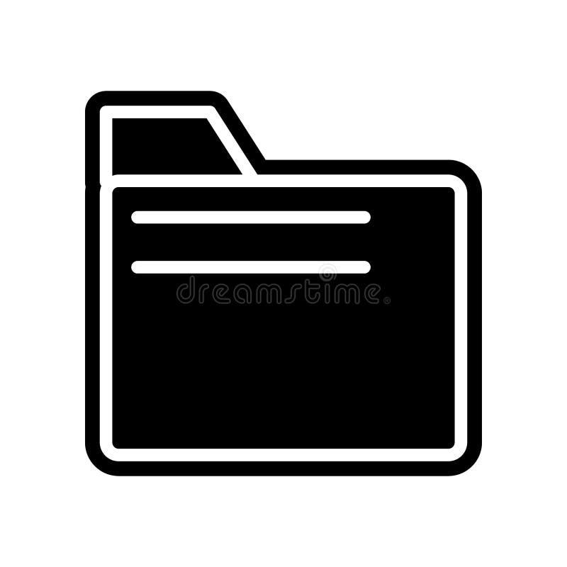 Ordnerikone Element der Finanzierung f?r bewegliches Konzept und Netz Appsikone Glyph, flache Ikone f?r Websiteentwurf und Entwic vektor abbildung