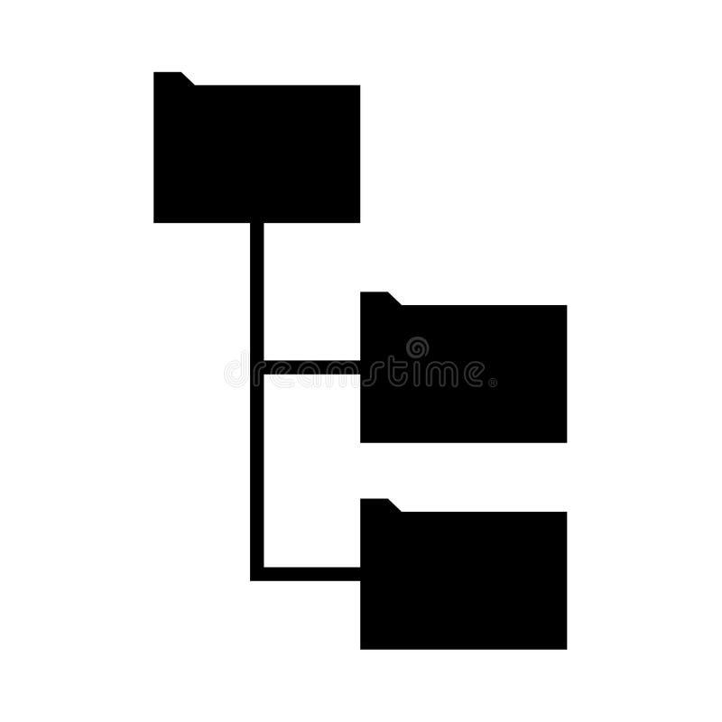 Ordnerstruktur ist es schwarze Ikone lizenzfreie abbildung