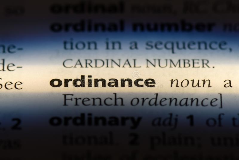 ordonnance photo stock