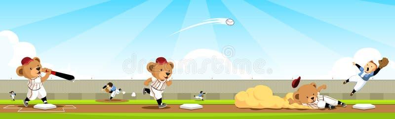 Ordre d'équipe d'ours de base-ball illustration libre de droits