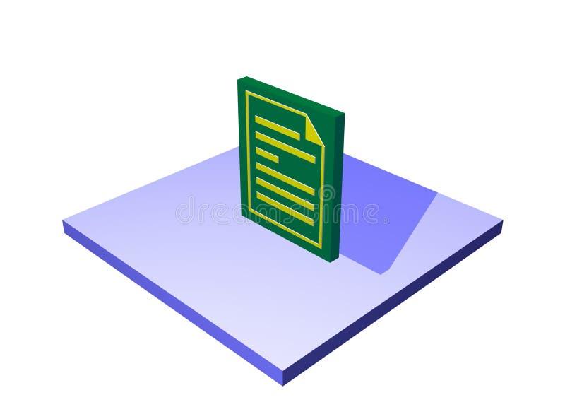 Ordre d'achat un tableau Ob de chaîne d'approvisionnements de logistique illustration de vecteur
