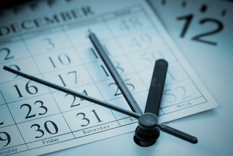 Ordre du jour de fin d'année images stock