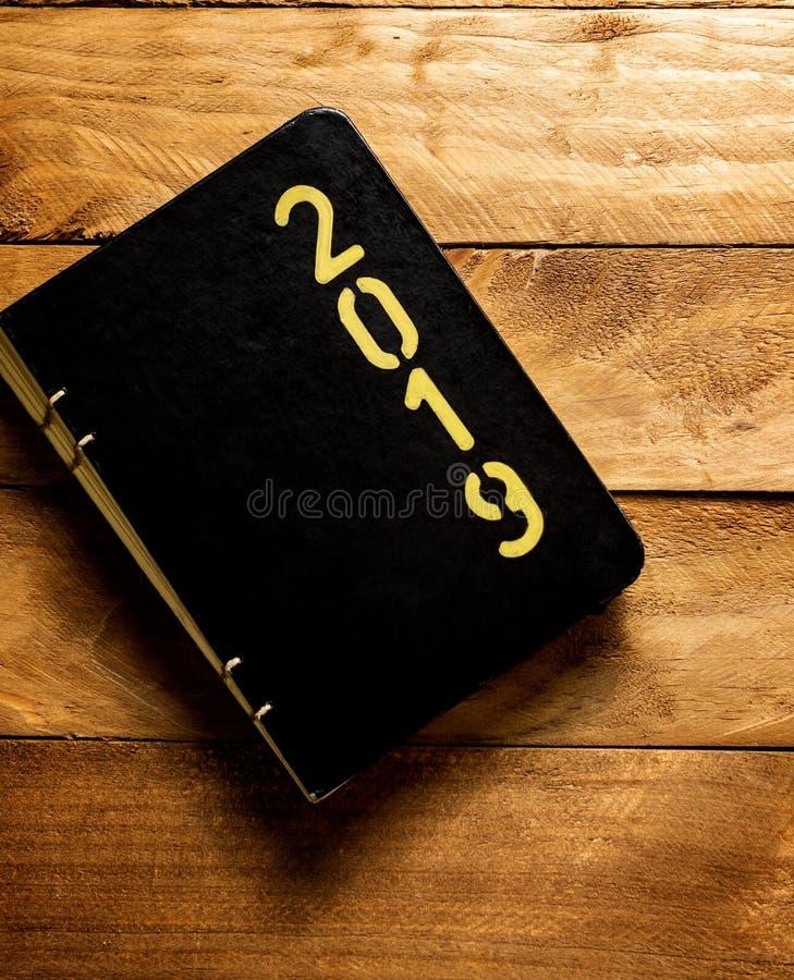 Ordre du jour 2019 du ` s de nouvelle année images stock