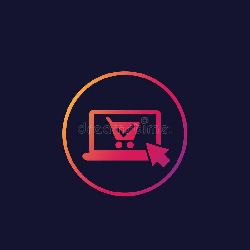 Ordre en ligne, icône de vecteur d'achat illustration de vecteur
