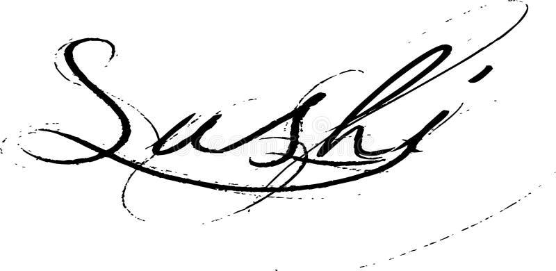 Ordsushi royaltyfri illustrationer