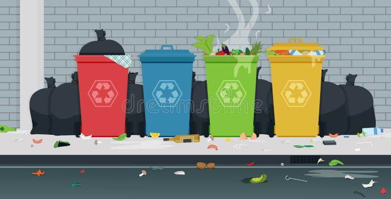 ordures illustration de vecteur