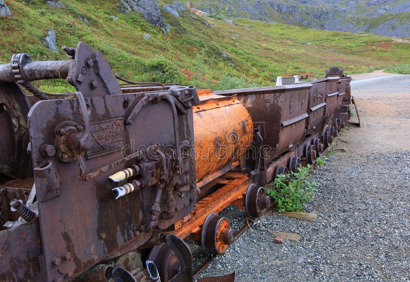 Hatcher Pass mining carts royalty free stock photography