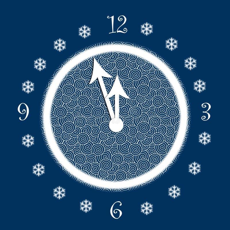 Ore del nuovo anno illustrazione vettoriale