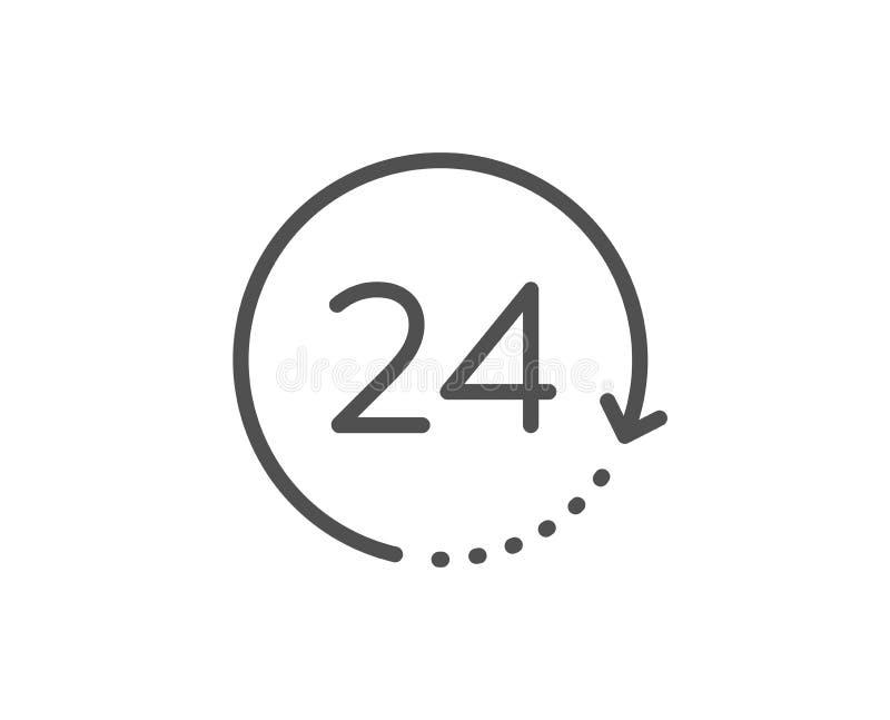 24 ore di linea di tempo icona segno dell'orologio vigilanza Vettore royalty illustrazione gratis