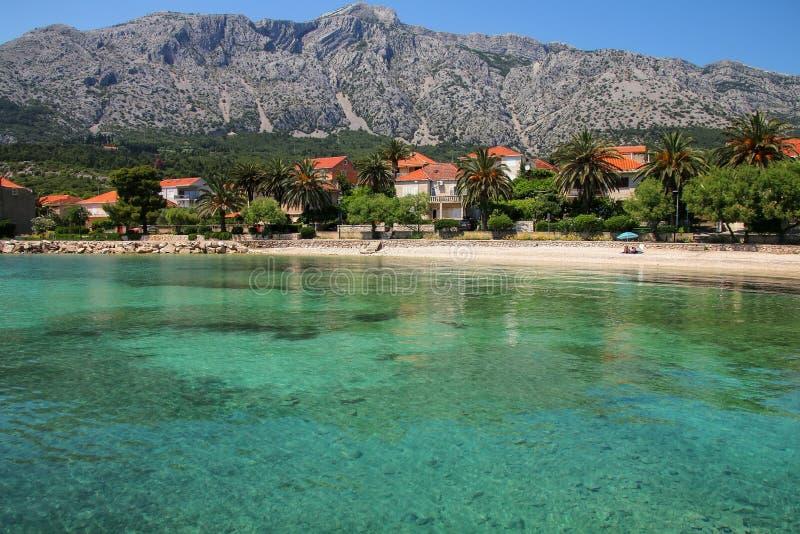 Orebic镇Peljesac半岛的,克罗地亚 免版税库存图片