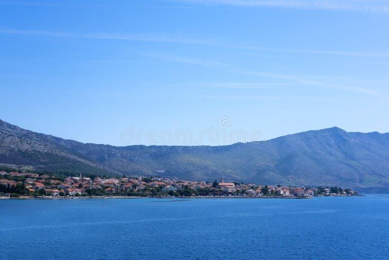 Orebic, Dalmacia fotografía de archivo