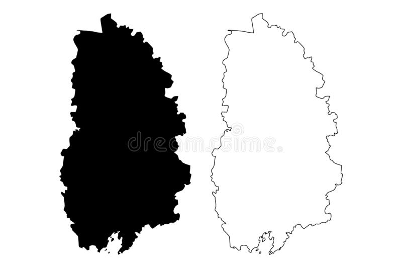 Orebro County Counties of Sweden, Kingdom of Sweden map vector illustration, scribble sketch Örebro map.  vector illustration