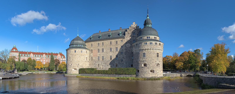 Orebro kasztel, Szwecja obrazy royalty free