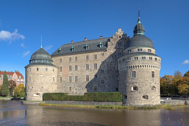 Orebro Schloss, Schweden stockbilder