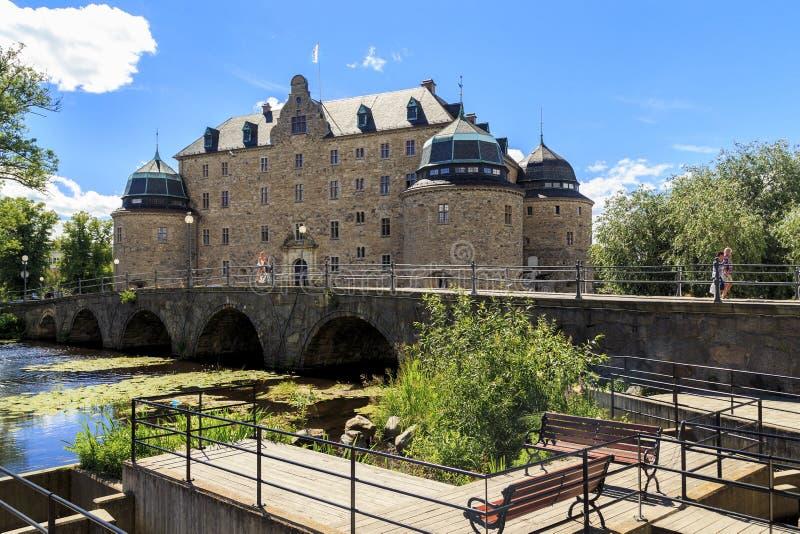 Orebro Schloss, Schweden lizenzfreie stockfotos