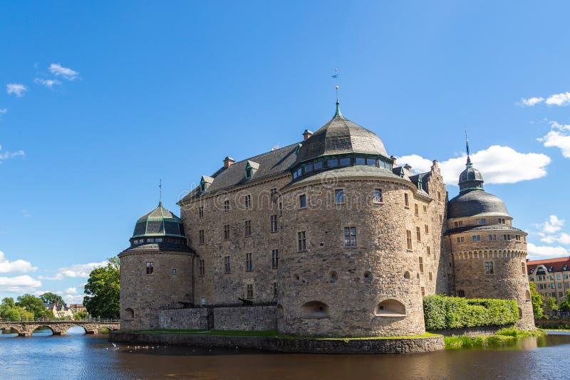 Orebro slott p? den soliga sommardagen, Sverige arkivbild