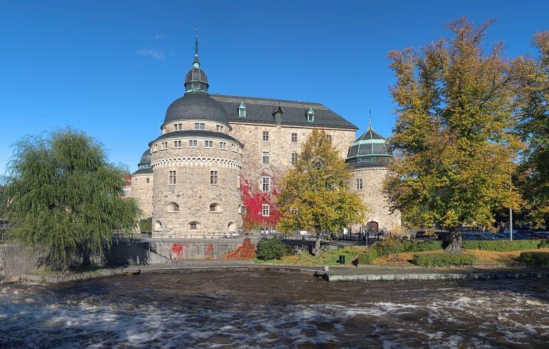 Orebro slott, Sverige royaltyfria foton