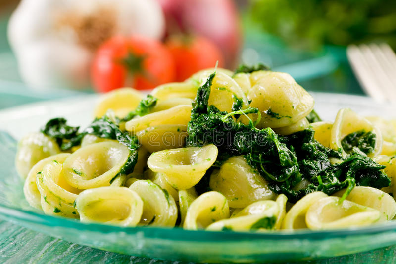 Orecchiette With Turnip Tops Royalty Free Stock Image