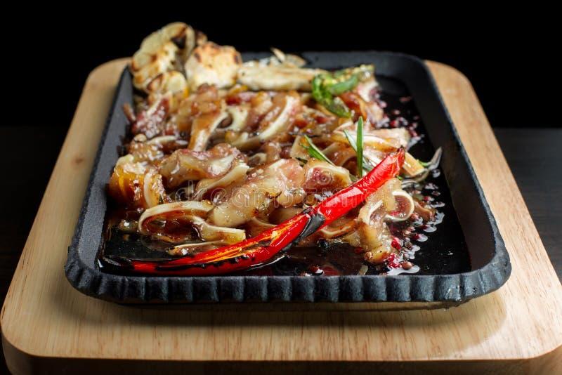 Orecchio del ` s del maiale - è un'insalata cinese immagine stock