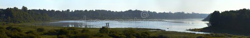 oredezh ποταμός πανοράματος στοκ φωτογραφία