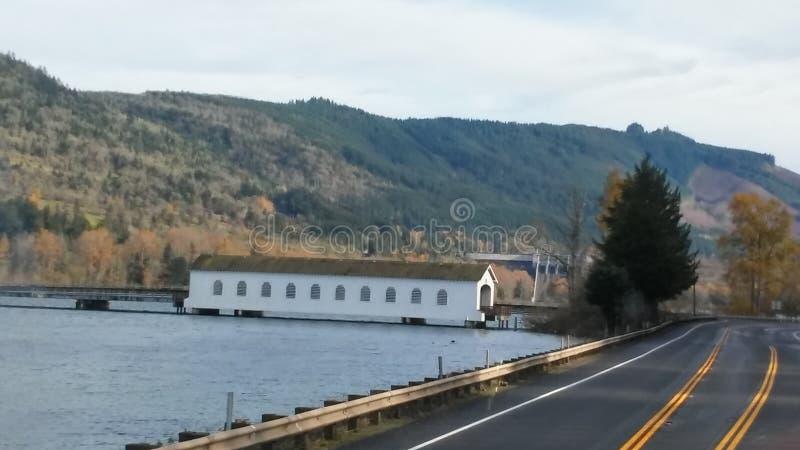 Oregon Bridżowy dom zdjęcie royalty free