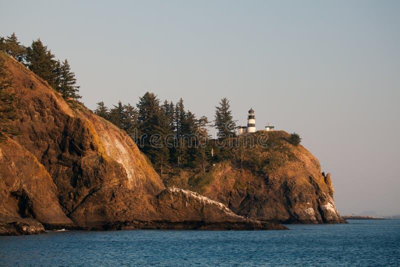 Oregon Coast Lighthouse royalty free stock photo