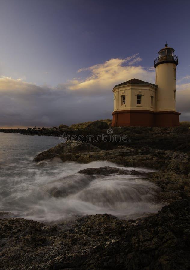 Oregon Coast Lighthouse royalty free stock photography