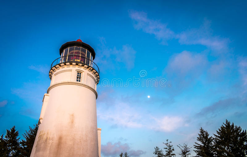 Oregon Coast Lighthouse stock photo