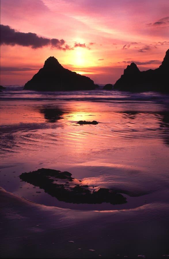 Oregon coast portraits royalty free stock photography