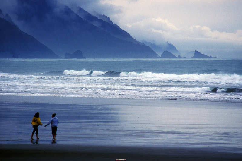 Oregon Coast post storm royalty free stock image