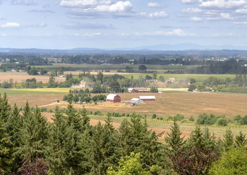Oregon countryside Willamette valley farming. Oregon countryside Willamette valley agricultural panorama stock photos