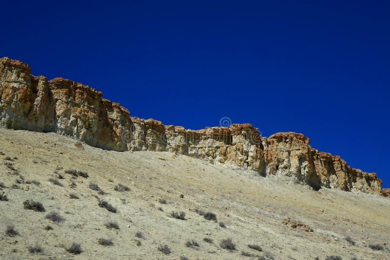 Oregon Desert Mesas. These stone mesas are landmarks in the Oregon desert near Jordan Valley royalty free stock photo