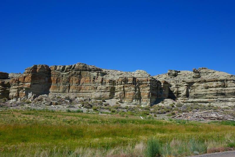 Oregon Desert Mesas. These stone mesas are landmarks in the Oregon desert near Jordan Valley royalty free stock images
