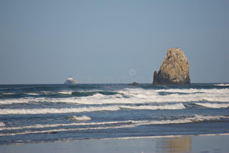 Oregon-Küsten-Meer stapelt II lizenzfreie stockfotografie
