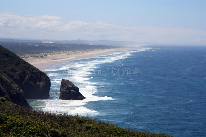 Oregon-Küstenlinie lizenzfreies stockbild