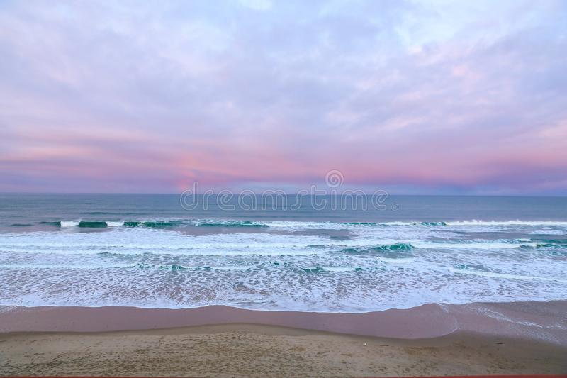 Oregon kustsolnedgång arkivfoto