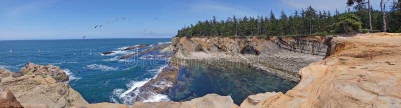 Oregon Nabrzeżny Seascape - panorama fotografia royalty free