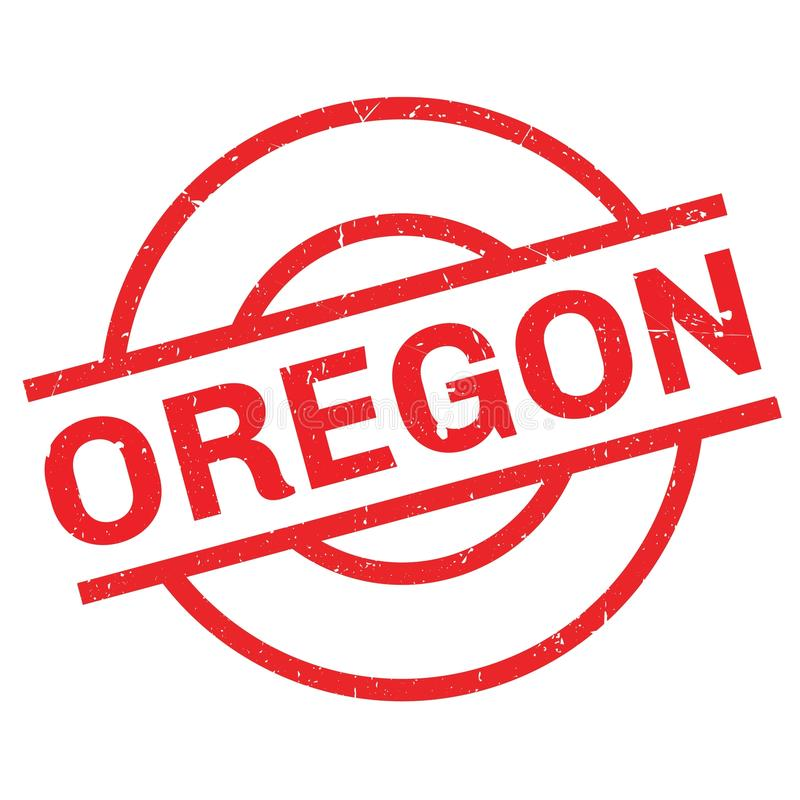 Oregon rubber stämpel royaltyfri illustrationer