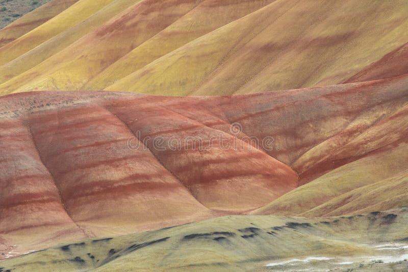 Oregon& x27; s被绘的小山 库存图片