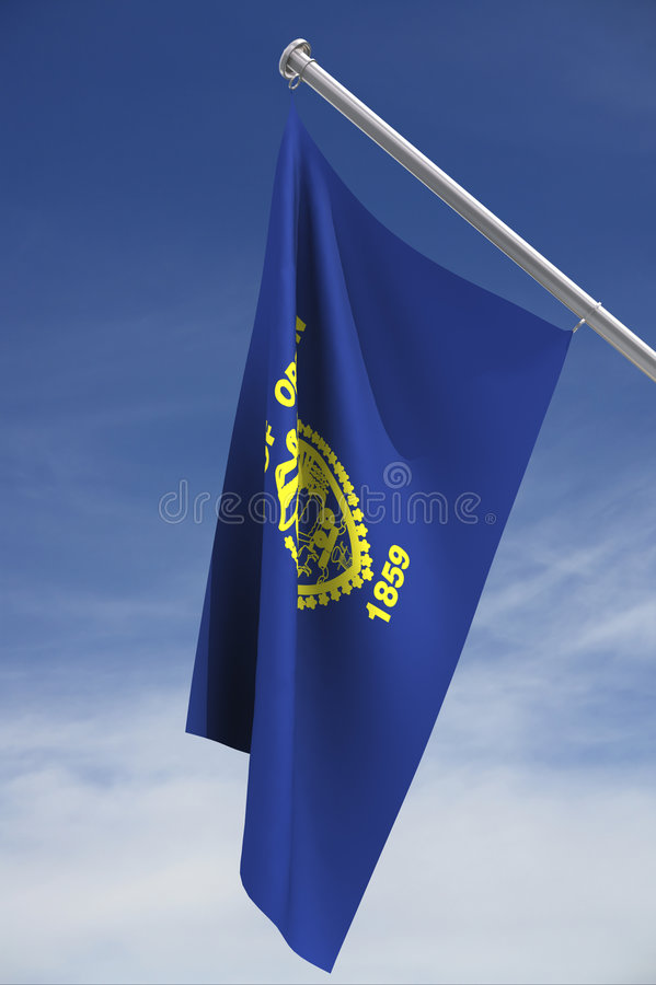 Oregon state flag royalty free stock images