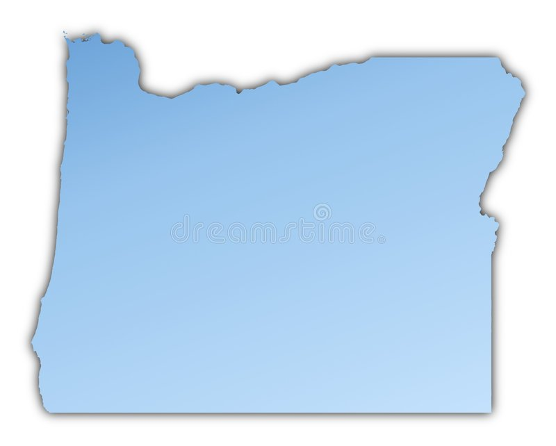 Download Oregon(USA) Map Stock Image - Image: 7333791