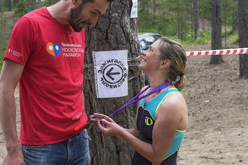 Orehovo Triathlon Challenge 2017 royalty free stock images