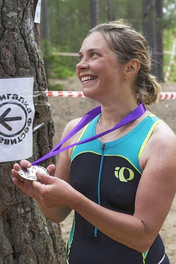 Orehovo Triathlon wyzwanie 2017 zdjęcia royalty free