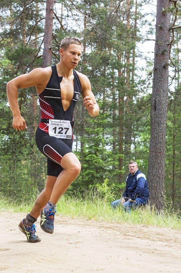 Orehovo Triathlon wyzwanie 2017 zdjęcie stock