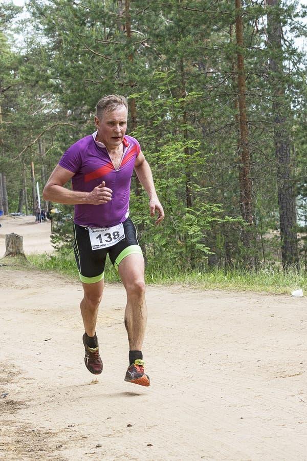 Orehovo Triathlon wyzwanie 2017 obrazy stock