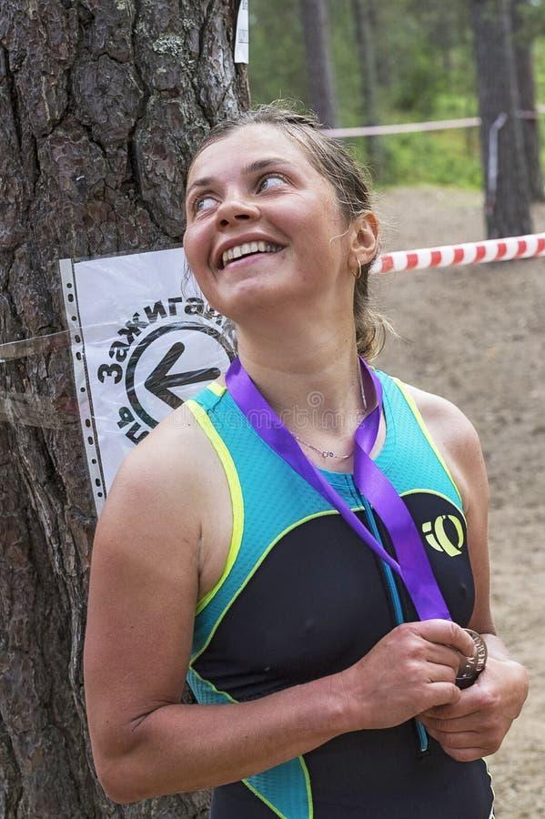Orehovo Triathlon wyzwanie 2017 fotografia royalty free